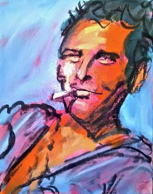 Painting - Newman's Cool Hand by Les Leffingwell