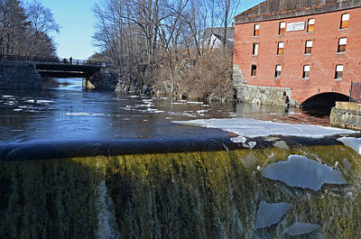Photograph - Newmarket Nh Waterfall Newmarket Mills by Toby McGuire
