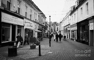 Burgh Photograph - newmarket street in Ayr town centre scotland uk by Joe Fox