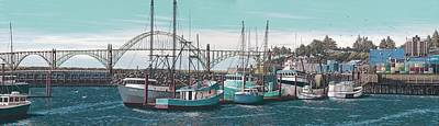 Bay Bridge Painting - Newport Bayfront by Andrew Palmer