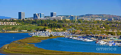 Photograph - Newport Beach Back Bay Cityscape by David Zanzinger