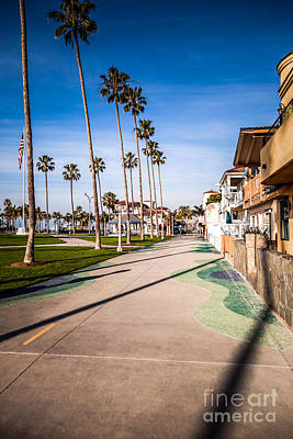 Beach Nobody Photograph - Newport Beach Boardwalk by Paul Velgos