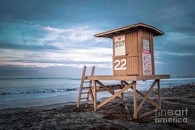 Newport Beach Ca Lifeguard Tower 22 Photo Art Print by Paul Velgos