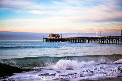 Newport Beach Ca Pier At Sunrise Art Print by Paul Velgos