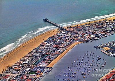 Newport Beach Flyover Art Print