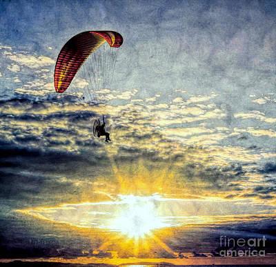 Photograph - Newport Beach High Flyer by Kip Krause