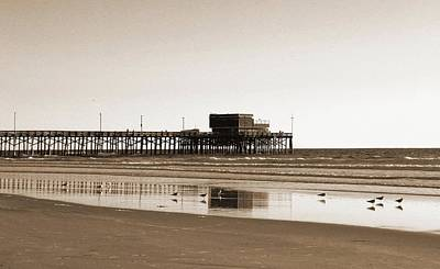 Photograph - Newport Beach Pier by Everette McMahan jr