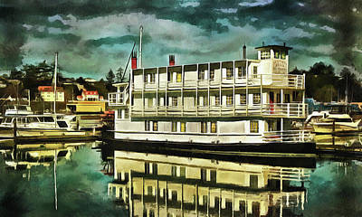 Photograph - Newport Belle In Yaquina Bay by Thom Zehrfeld