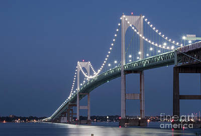 Narragansett Photograph - Newport Bridge Blues by Juli Scalzi