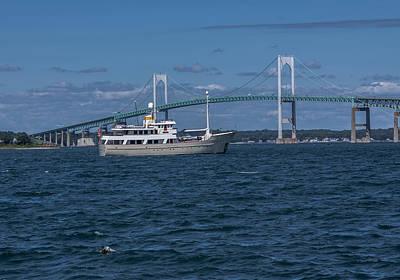 Photograph - Newport Bridge by Brian MacLean