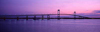 Narragansett Photograph - Newport Bridge Conanicut Island Newport by Panoramic Images