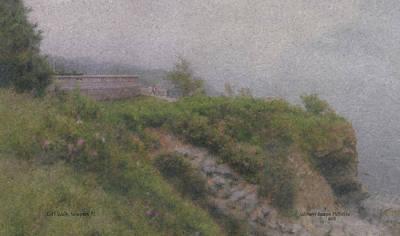 Newport Cliff Walk In The Fog Art Print