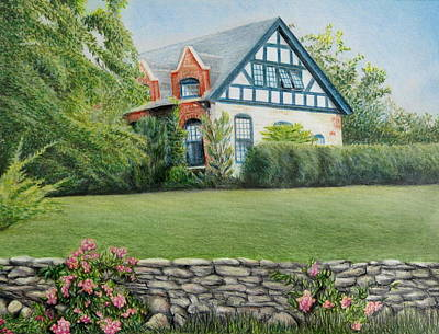 Wall Art - Painting - Newport Cottage by Melinda Zielfelder