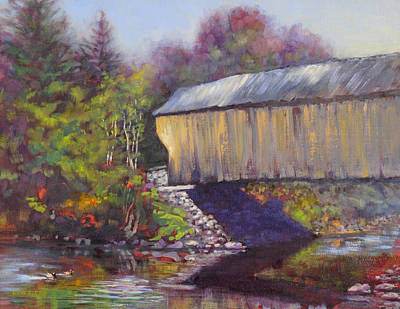 Newport Covered Bridge Art Print by Ken Fiery