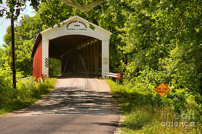 Photograph - Newport Covered Bridge Landscape by Adam Jewell
