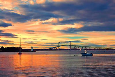 Photograph - Newport Gold by Joann Vitali