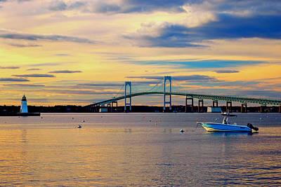 Newport Harbor 2 Print by Joann Vitali