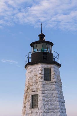 Photograph - Newport Harbor Lighthouse Aka Goat Island Light House. by Marianne Campolongo