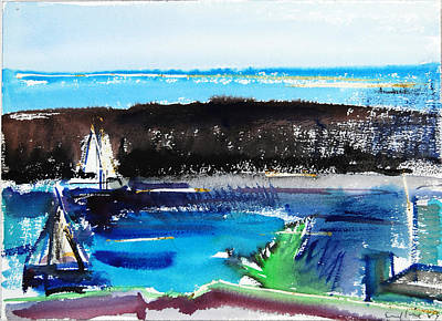 Painting - Newport Harbor by Zolita Sverdlove