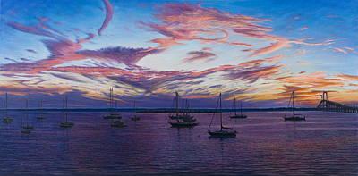 Newport Lights Art Print by Bruce Dumas