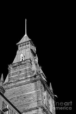 Newport Market Tower Mono Print by Steve Purnell