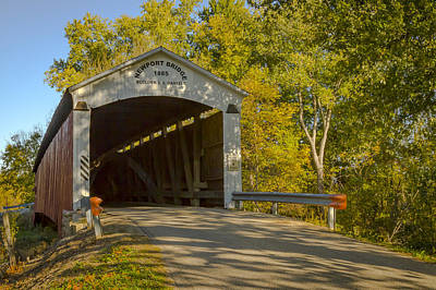 Photograph - Newport/morehead Covered Bridge by Jack R Perry
