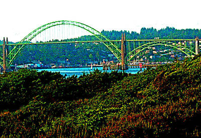 Digital Art - Newport - Oregon by Joseph Coulombe