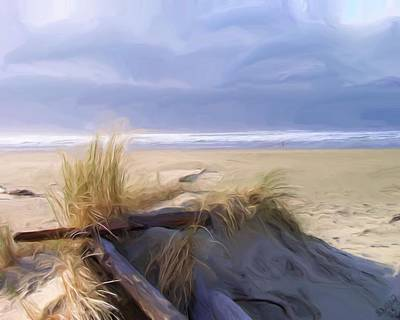Seacape Painting - Newport Oregon Summer Beach by Shelley Bain