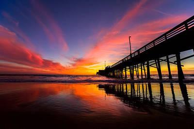 Beach Sunset Wall Art - Photograph - Newport Pier by Cole Pattschull
