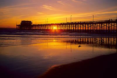 Newport Pier Sunset Art Print