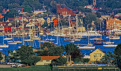 Photograph - Newport Rhode Island Cityscape by Ginger Wakem