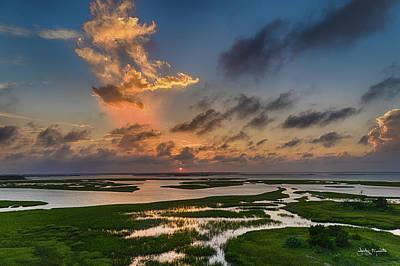Photograph - Newport River Sunset In July by Jody Merritt