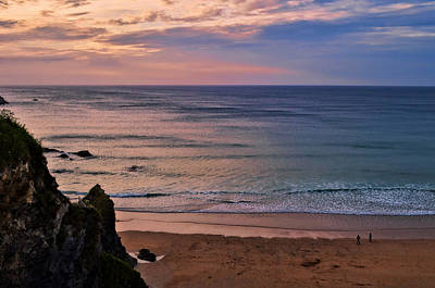 Photograph - Newquay Beach At Dusk by Pennie  McCracken