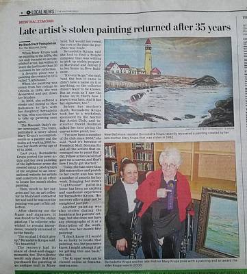 Painting - News 01 In Search Of Portland Maine Harbor  by Bernadette Krupa