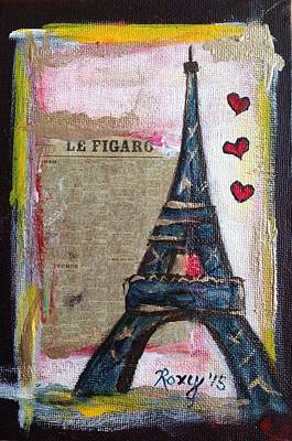 Cities Painting - News From Paris by Roxy Rich