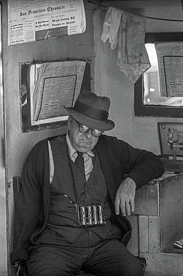 Photograph - San Francisco News Vendor by Frank DiMarco