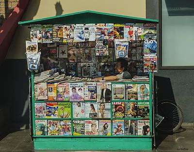 Photograph - News Vendor - Lima, Peru by Allen Sheffield