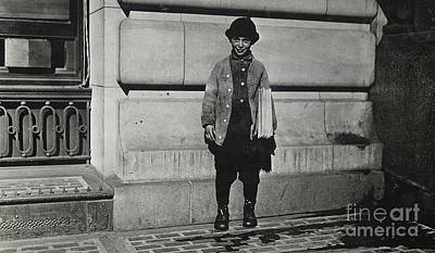 Newsboy, 1909 Art Print by Lewis Wickes Hine