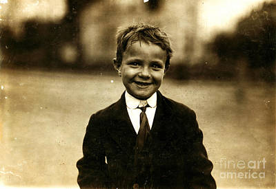 Painting - Newsboy by Lewis Hine