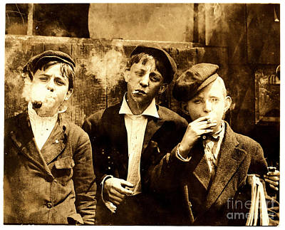 St. Louis Painting - Newsies Smoking At Skeeter's Branch St. Louis by Celestial Images