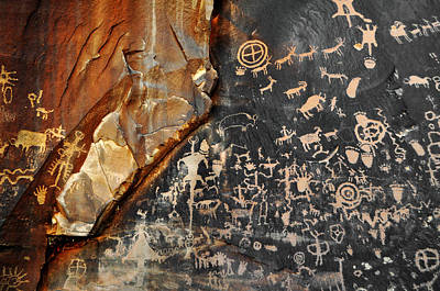 Newspaper Rock Canyonlands Art Print