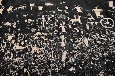 Newspaper Rock Petroglyphs Landscape Art Print