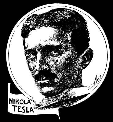 Digital Art - Newspaper Tesla 2 by Daniel Hagerman