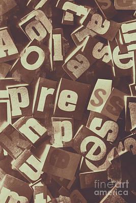 Vintage Collage Wall Art - Photograph - Newsprint Journalism by Jorgo Photography - Wall Art Gallery