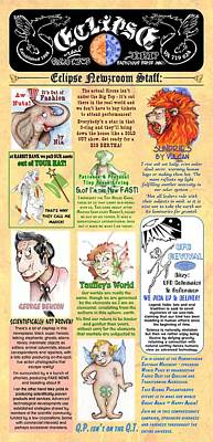 Drawing - Newsroom Staff Pg 4 Of 4 by Dawn Sperry