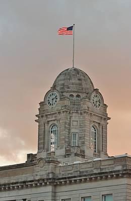 Photograph - Newton Iowa Clocktower by Kathy Cornett