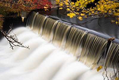 Charles River Photograph - Newton Upper Falls Autumn Waterfall by Toby McGuire