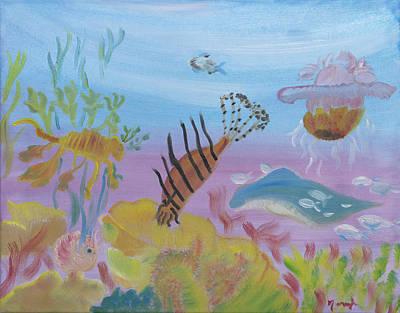 Painting - Hidden Neath The Sea by Meryl Goudey