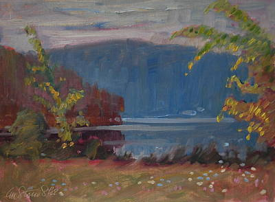 Painting - Next Day At Second Pond by Len Stomski