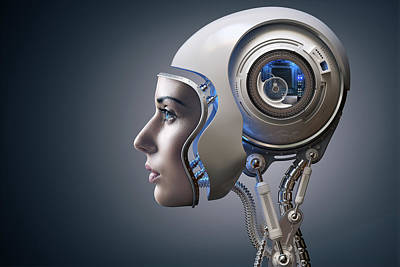Surrealism Royalty-Free and Rights-Managed Images - Next Generation Cyborg by Johan Swanepoel